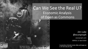 "Cover slide of ""Can We See the Real U?"" presentation showing the cover image from The Who's Quadrophenia album and title"